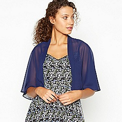 Debut - Navy Cape Sleeve Chiffon Cover Up