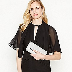 Debut - Black Cape Sleeve Chiffon Cover Up