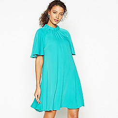 Debut - Green Bow Back Knee Length Swing Dress