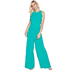 Debut - Green Frill Jumpsuit