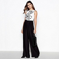 Debut - Ivory colour block embellished 'Caitlyn' Jumpsuit