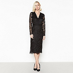 Debut - Black Lace Midi Pencil Dress