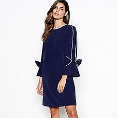 Debut - Navy bow detail mini shift dress