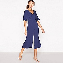 Debut - Navy Wide Leg Culotte Jumpsuit