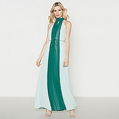 No. 1 Jenny Packham - Dark Green Pleated 'Philippa' Maxi Dress