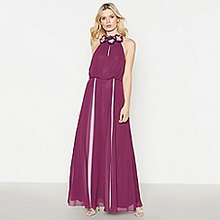 No. 1 Jenny Packham - Lilac Flower Trim 'Fiona' Maxi Dress