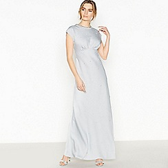 No. 1 Jenny Packham - Silver Diamante Trim 'Diana' Full Length Dress