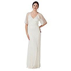 Debut - Ivory embellished 'Joy' v-neck wedding dress