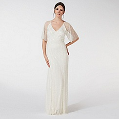 Debut - Ivory embellished 'Joy' v-neck wedding dress