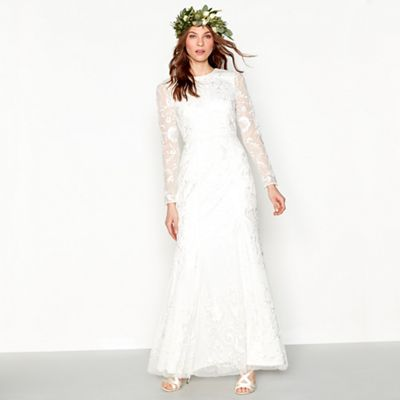 Nine by Savannah Miller Ivory lace bridal dress | Debenhams