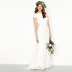 Nine by Savannah Miller - Ivory embellished frill bridal dress