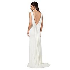 Ben De Lisi Occasion - Ivory jersey 'Jessica' cowl neck wedding dress