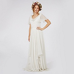 Nine by Savannah Miller - Ivory 'Honesty' floral embroidered bridal dress