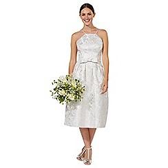 Debut - Silver 'Honor' midi wedding dress