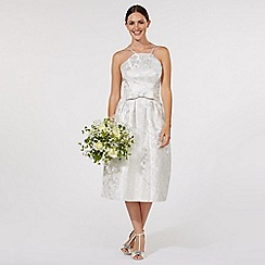 Debut - Silver 'Honor' midi wedding dress