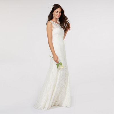 Debut   Ivory Lace Bridal Dress by Debut