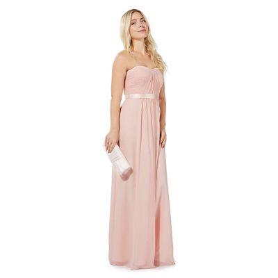 Debut Pink \'Sophia\' bandeau evening dress | Debenhams