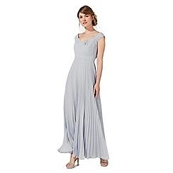 Debut - Pale grey 'Petra' evening dress