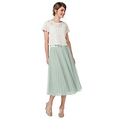 Debut - Pale green pleated tulle skirt