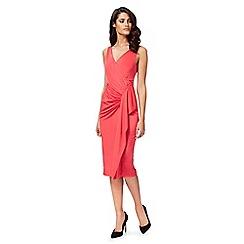 Debut - Bright pink 'Jaime' jersey wrap dress
