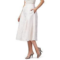 Debut - Light pink 'Jenna' rose print pleated skirt