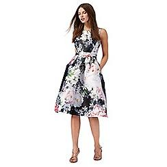 Debut - Multi-coloured floral print knee length prom dress