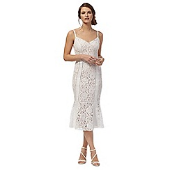 Debut - Cream lace 'Edina' evening dress