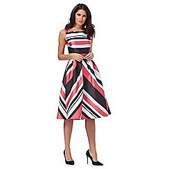 Debut - Multi-coloured 'Miami' striped prom dress