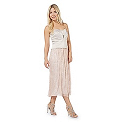 No. 1 Jenny Packham - Pale pink 'Kensington' ruched bustier top