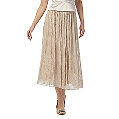 No. 1 Jenny Packham - Pink bead embellished midi skirt
