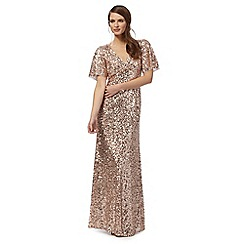 No. 1 Jenny Packham - Pink embellished 'Carys' v-neck evening dress