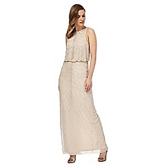 No. 1 Jenny Packham - Light pink 'Primrose' embellished maxi dress
