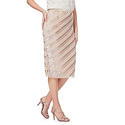 No. 1 Jenny Packham - Pink 'Alcy' beaded striped skirt