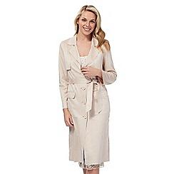 No. 1 Jenny Packham - Pink suede-effect duster coat