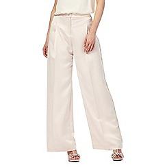 No. 1 Jenny Packham - Cream 'Burlington' wide leg formal trousers