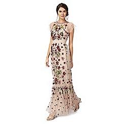 No. 1 Jenny Packham - Pink 'Portobello' embellished maxi dress