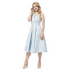 Siren by Giles - Pale blue textured prom dress