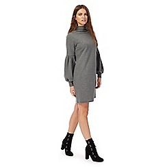 Nine by Savannah Miller - Grey high neck long sleeves mini dress