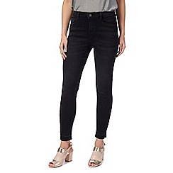 Nine by Savannah Miller - Black washed piped skinny jeans