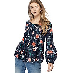 Nine by Savannah Miller - Navy floral top