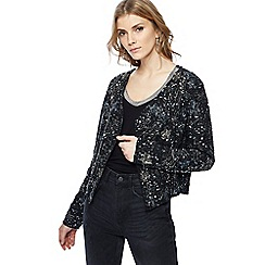 Nine by Savannah Miller - Black star sequinned jacket