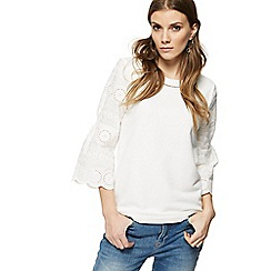 Nine by Savannah Miller - Off white broderie sleeve top