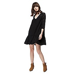 Nine by Savannah Miller - Black broderie v-neck mini dress