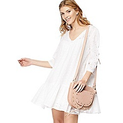 Nine by Savannah Miller - White broderie V-neck mini dress