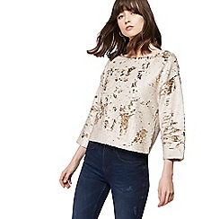 Nine by Savannah Miller - Gold reversible sequinned top