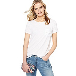 Nine by Savannah Miller - White 'On Cloud Nine' embroidered t-shirt