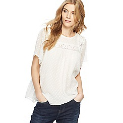 Nine by Savannah Miller - Ivory angel sleeve top