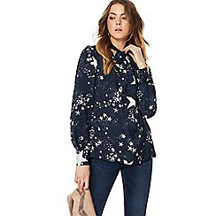 Nine by Savannah Miller - Navy star print blouse