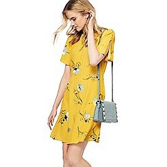 Nine by Savannah Miller - Yellow floral print short tunic dress