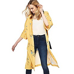 Nine by Savannah Miller - Yellow floral print longline kimono